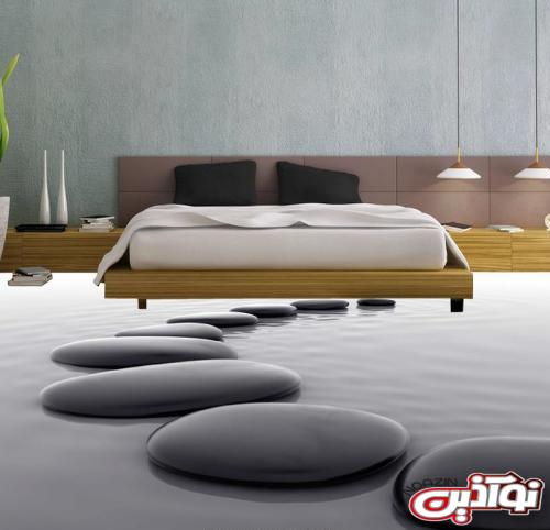 کفپوش سه بعدی,تصاویر کفپوش سه بعدی اتاق خواب