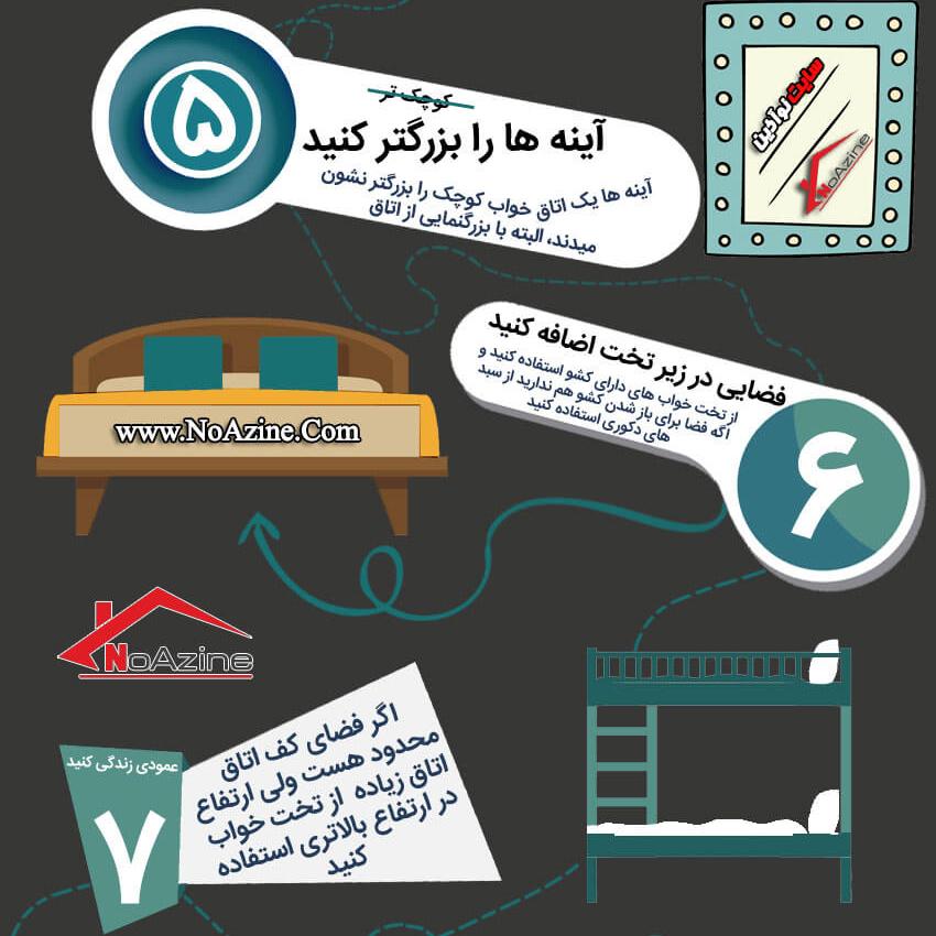 دکوراسیون داخلی اتاق خواب, 10 ایده عالی برای دکوراسیون داخلی اتاق خواب کوچک