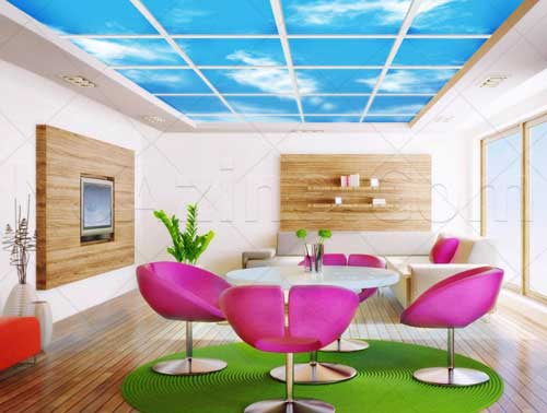 سقف کاذب,انواع سقف کاذب,تصاویر آسمان مجازی,اسکای لایف,انواع سقف کاذب و روش های اجرای آن