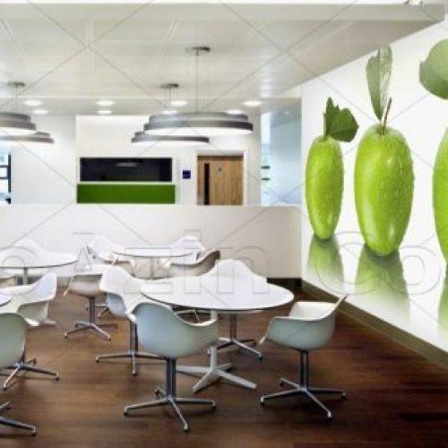 خرید کاغذ دیواری سه بعدی مناسب آشپزخانه و فضاهای کافی شاپ طرح میوه