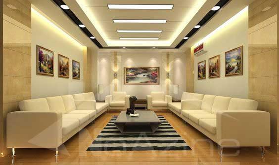طرح کناف سقف برای سالن پذیرایی و اتاق خواب و آشپزخانه