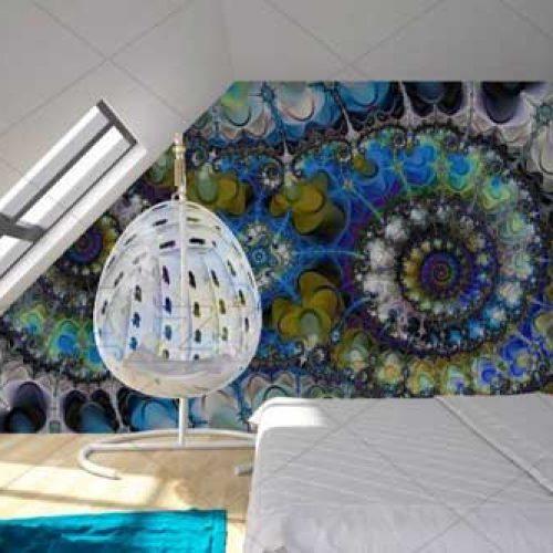 کاغذ دیواری سه بعدی تصویری طرح خطای دید مناسب اتاق خواب