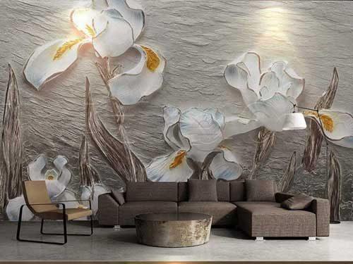 طرح های الهام بخش با استفاده از کاغذ دیواری 3 بعدی پوستری