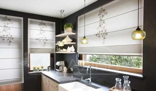 انواع پرده فانتزی آشپزخانه در دکوراسیون داخلی