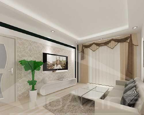 طراحی مدل کناف پذیرایی برای دکوراسیون داخل اتاق نشیمن