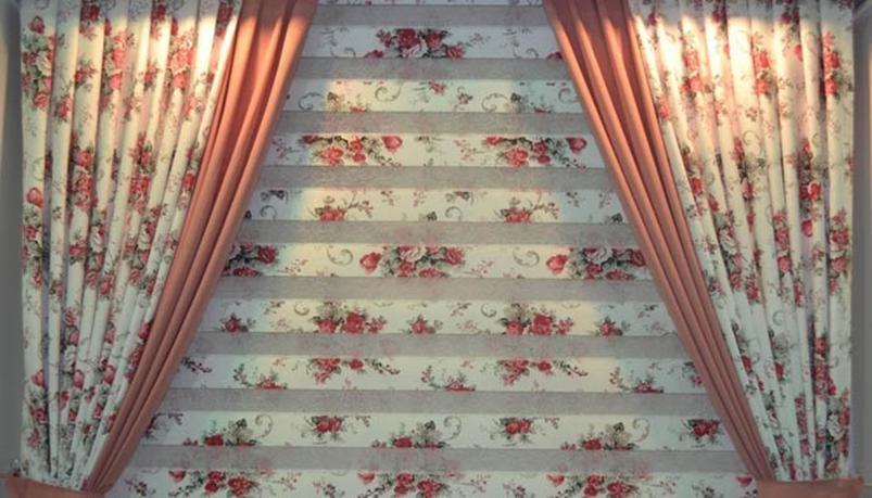 پرده زبرا در سرسرای خانه های شما به زیبایی می درخشد.
